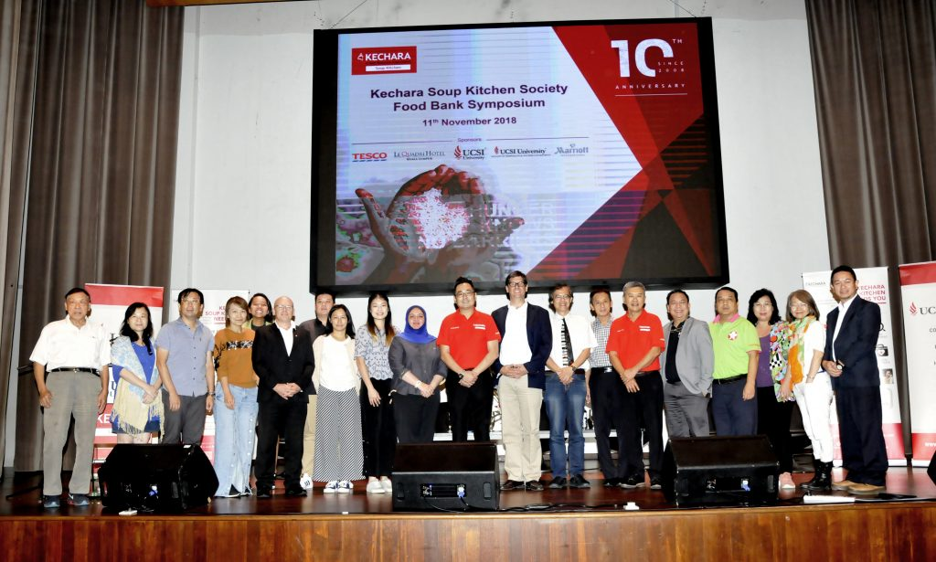 Organised first food bank symposium in Malaysia
